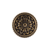 Mini Antique Bronze Medallion Metal Knob